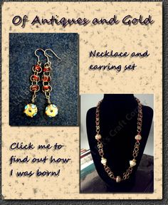 #Barrel #Weave# Chainmaille set.  Click on me to find out how I was made! http://lilbitscc.wordpress.com/2011/01/10/of-antiques-and-gold/
