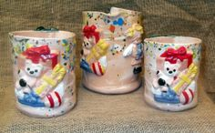 Eggnog Pitcher & matching Mugs.