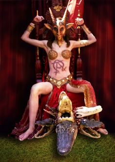 The Whore of Babylon_Dexter by Chevinster on DeviantArt Baphomet, Dexter Seasons, Satanic Art, Dark Artwork, Occult Art, Mother Goddess, Afraid Of The Dark, Angels And Demons, Dark Fantasy Art