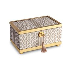 L'objet Fortuny Tapa small box ($930) ❤ liked on Polyvore featuring home, home decor, small item storage and l'objet