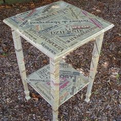 Girl, some old furniture and a couple bottles of Mod Podge and you could rule the world.