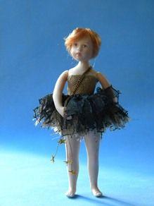 Evening elf - Doll in porcelain - Jane Davies.