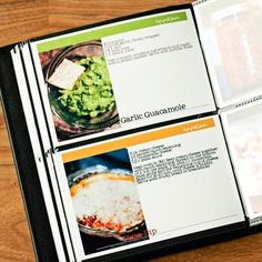 Make your own cookbook! Use her templates to print 4x6 photo recipe cards that you can keep in a photo album.