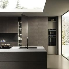 Cuisine en bois, céramique et aluminium Blade Composition 3 - Porto Venere