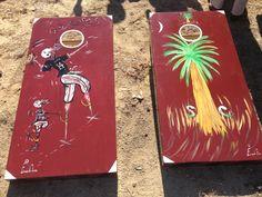 The Chicken Man's Gamecocks cornhole boards!