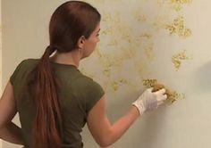 Pintar tus paredes con una esponja