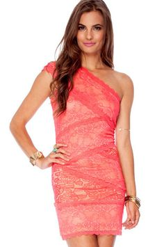 No Lace to Go Dress in Coral - Tempted to order!
