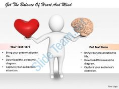 2413 get the balance of heart and mind ppt graphics icons powerpoint Slide01