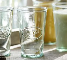 Cow Milk Glass, Set of 6 #potterybarn  just got these :)