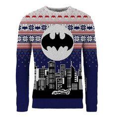 Batman Bat Signal & Batmobile Holiday Sweater