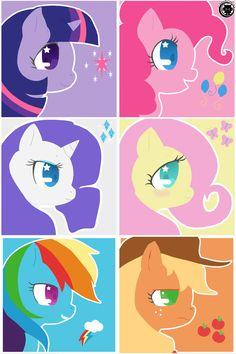 Twilight Sparkle, Pinkie Pie, Rarity, Fluttershy, Rainbow Dash, and Applejack