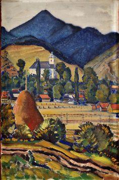 Martin Benka  1888-1971  Ludrová Chaim Soutine, Heart Of Europe, Dining Room Inspiration, Illustrators, Folk Art, Graphic Art, Illustration Art, Tapestry, History