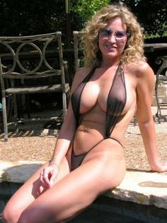 Words... super, Milf in sling bikini question You