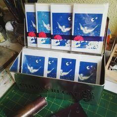 """Handpulled linocut cards """"Peace on Earth"""""""