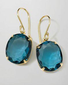18K Rock Candy Gelato Kiss Drop Earrings in London Blue Topaz by Ippolita at Bergdorf Goodman.