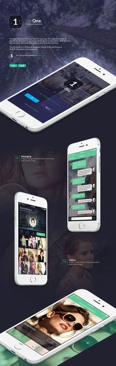 The One iOS8 template on Behance