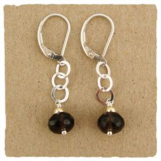 Brushed Smoky Quartz Collection Earrings