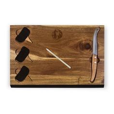 Picnic Time Delio Cutting Board and Cheese Tools Set NBA Team: Dallas Mavericks