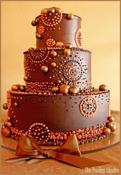 Chocolate tiered Wedding Cake from the Pastry Studio