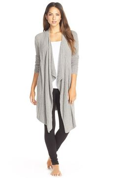 Barefoot Dreams® Cable Knit Drape Front Cardigan available at #Nordstrom