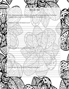 Names of God Coloring Pages Prayer Journal Adult Coloring