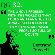 Finding the balance of cocky and humble is ideal  #quote #bertrandrussell