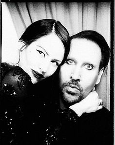Marilyn Manson with facial hair.  I'm a fan of it.  Looks pretty hot, actually.  ~Vanessa N. Moylan