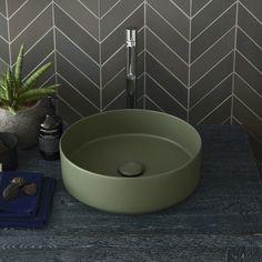Rectangular washbasin 60 colored Brina Shui Comfort - Wash basin colored bathroom Ceramica Cielo