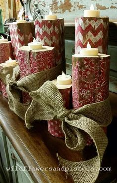 Wooden Christmas Candle Holders – Wildflowers & Pistols