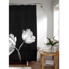 Cant wait to start on the bathroom with a photoreal picture of a tulip, the Tulip vinyl shower curtain is a bold, beautiful addition to any bathroom decor.  This shower curtain features twelve button holes and heat-sealed edges.