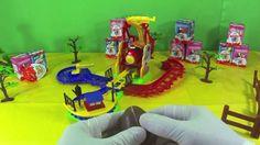 Surprise Egg  Kinder with funny train flip track action surprise toy unb...