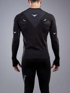 PLAYERA DEPORTIVA MANGA LARGA CABALLERO Nemik #longsleeve #tshirt #black #Nemik