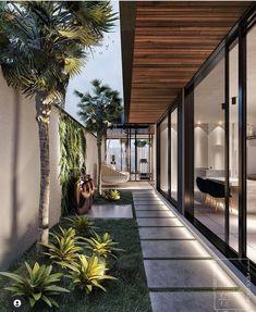 Dream Home Design, House Design, Design Exterior, Modernisme, Small Garden Design, Dream House Exterior, Modern House Plans, Decor Interior Design, Backyard Landscaping