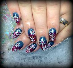 Almond winter nails