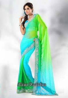 Net Sarees 2013 | Fashion: Net Embroidered Sarees 2013 | Bridal Wear Sarees | Latest Net ...
