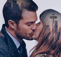 Kisses <3 #ChristianGrey #AnastasiaSteele #Seattle