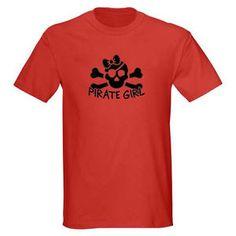 Kids Pirate Girl Skull Bones Youth Graphic Tee Shirt Size XS L Red T Shirt   eBay