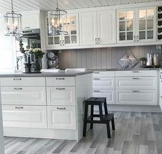 küche Kitchen ideas Laminate Flooring While Remodeling the Home Article Body: There are just so many Ikea Galley Kitchen, White Galley Kitchens, Galley Kitchen Design, Galley Kitchen Remodel, Kitchen Layout, Home Kitchens, Kitchen Cabinets, Home Decor Kitchen, Kitchen Interior