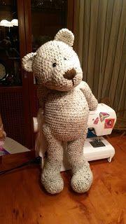 perzl-Puppen: XL Crochet TeddyBär