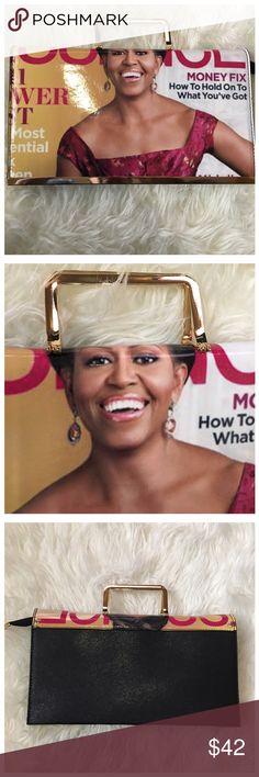 Michelle Obama Magazine Print Purse Michelle Obama Magazine Print Purse with optional shoulder strap. Bags Clutches & Wristlets