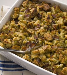 winter long spinach fennel and sausage stuffing with toasted brioche ...