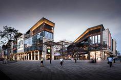 【长沙 阳光100·凤凰街】效果图_设计图-金盘网kinpan Retail Architecture, Architecture Design, High Building, Commercial Street, Shopping Street, The Neighbourhood, Chinese, Community, Interior Design