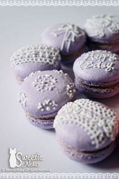 macaron in purple  http://www.facebook.com/SweetieNeko