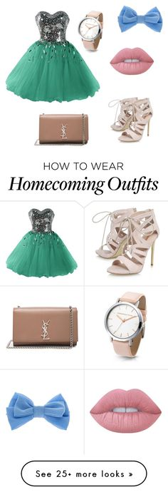 """""""Untitled #37"""" by bria-herban on Polyvore featuring Carvela, Yves Saint Laurent, claire's and Lime Crime"""