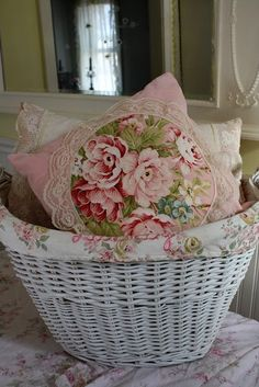 beautiful floral and lace pillows