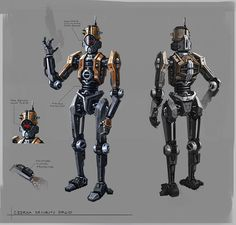 Star Wars the Old Republic- SWTOR concept Art by Ryan Denning Czerka Security Droid