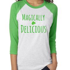 4f518695c Magically DeliciousTee | St. Patty's Day Tee, St. Patrick's Day Shirt,  Shamrock, St. Patty's Day, Leprechaun, Lucky, Green, Irish