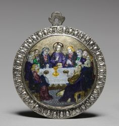 Medallion: The Last Supper, late 1400s                                                France, 15th century