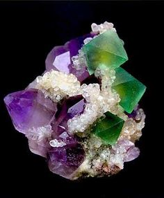 Chinese Amethyst and Fluorite  アメジストと蛍石
