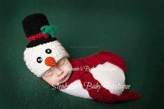 Crochet Newborn 0-3M 3-6M Baby Boy/Girl by StephaniesPropShop